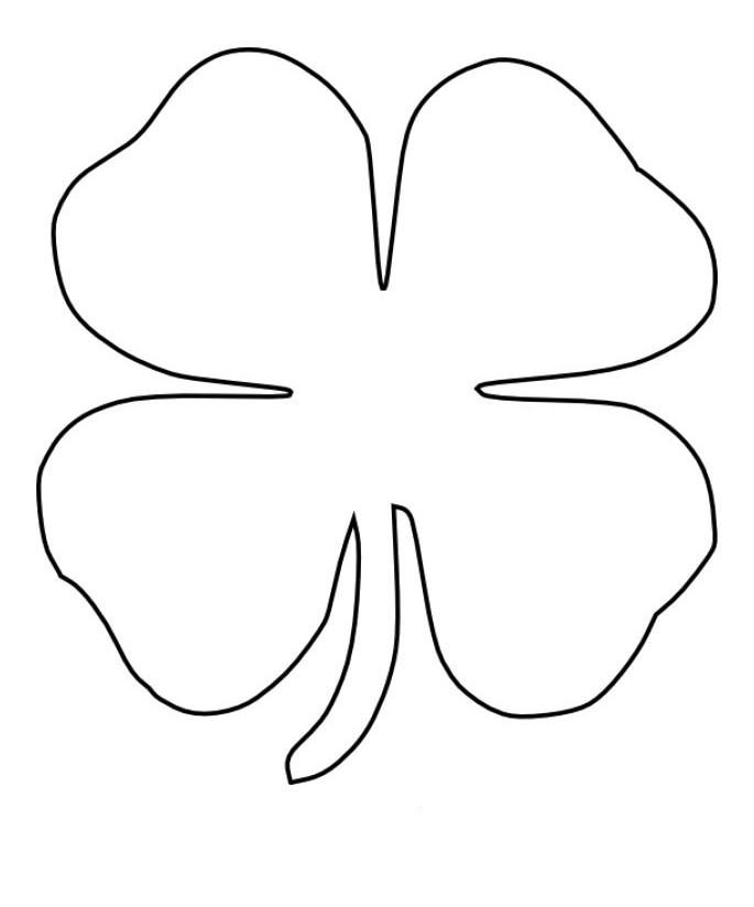 picture of a four leaf clover to color 4 leaf clover coloring page coloring home of a four clover to picture color leaf