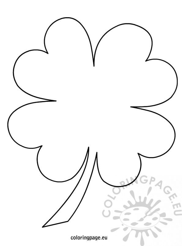 picture of a four leaf clover to color 4 leaf clover coloring page coloring page picture color leaf a of clover four to