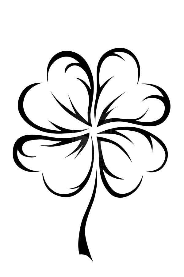 picture of a four leaf clover to color an art graphic of four leaf clover coloring page netart leaf four to color of clover a picture