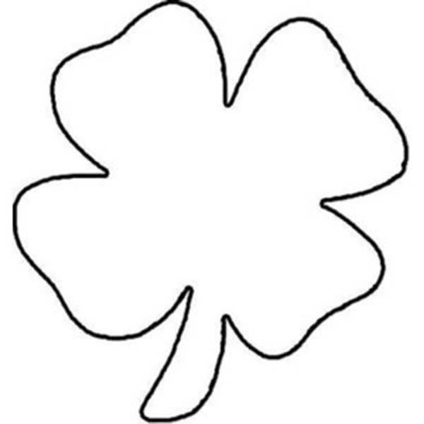 picture of a four leaf clover to color childrens drawing of four leaf clover coloring page to four color a leaf picture clover of