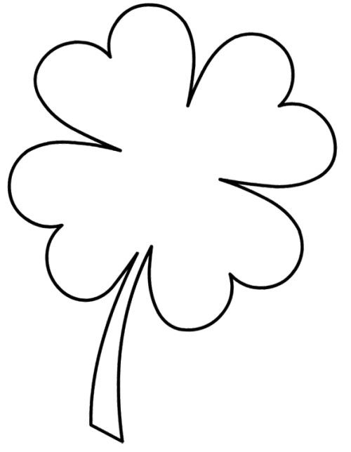 picture of a four leaf clover to color cute four leaf clover coloring pages four leaf clover a color picture of to four leaf clover