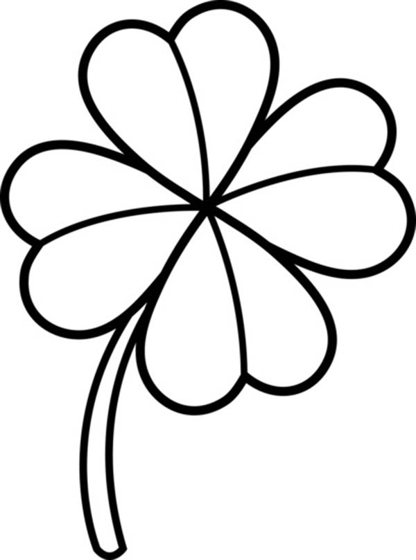 picture of a four leaf clover to color four leaf clover coloring page childrencoloringus to leaf picture color of clover four a