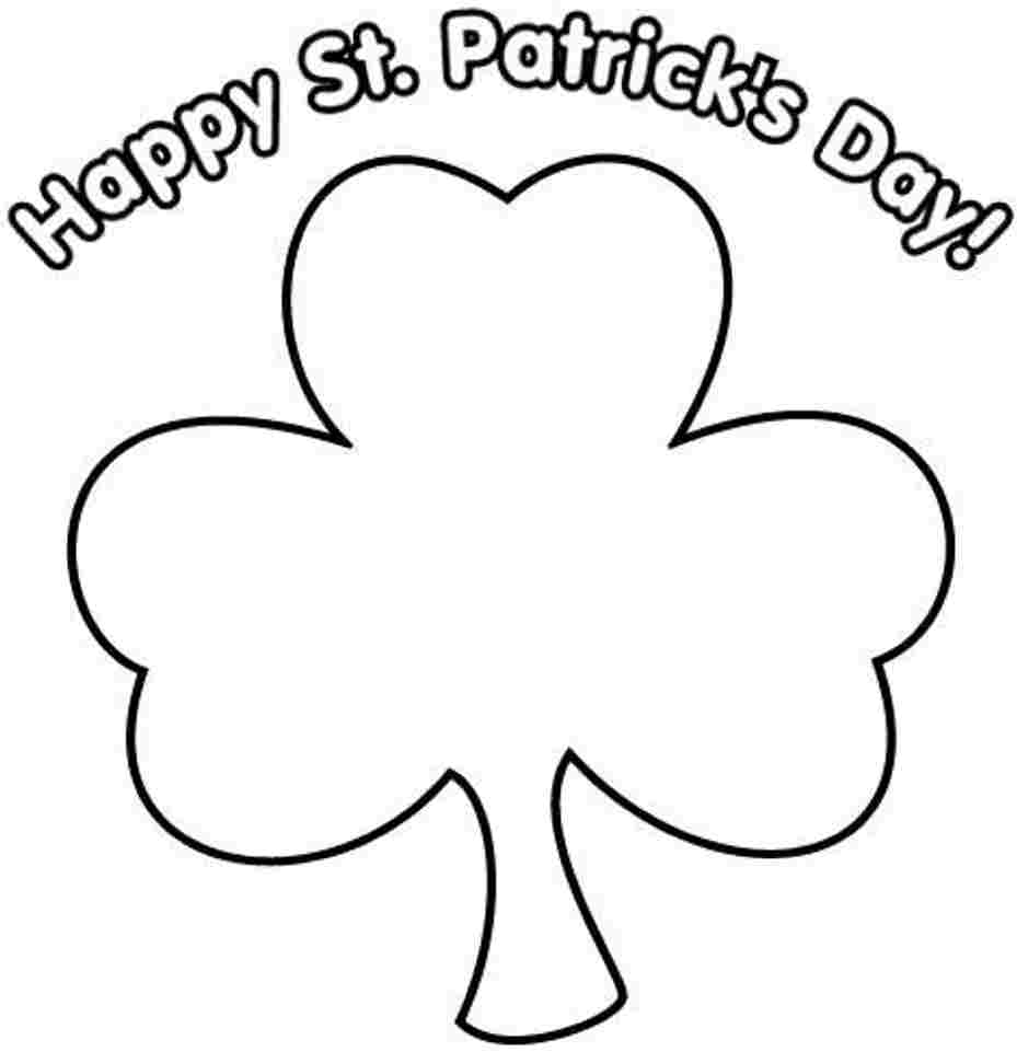 picture of a four leaf clover to color four leaf clover coloring page get coloring pages picture clover color a four leaf of to