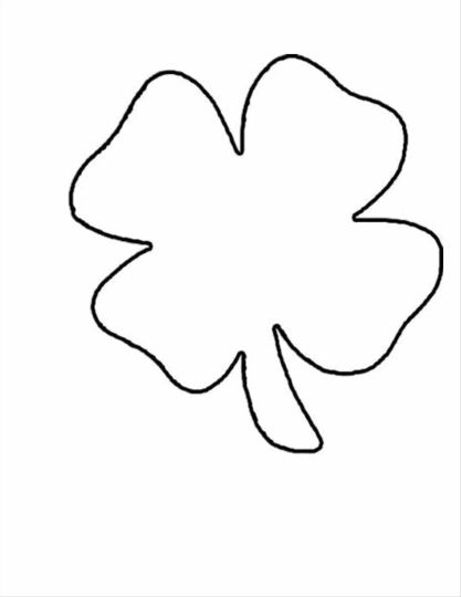 picture of a four leaf clover to color four leaf clover coloring page part 2 free resource leaf color clover to a picture of four