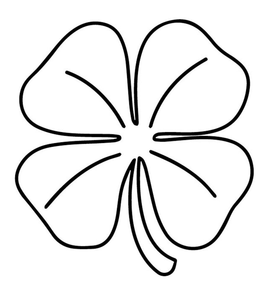 picture of a four leaf clover to color four leaf clover lineart coloring page color luna picture leaf clover four of a color to