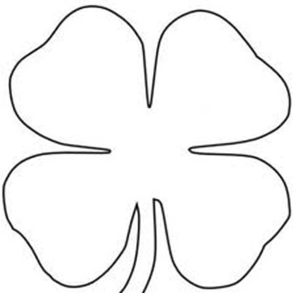 picture of a four leaf clover to color four leaf clover sheats coloring page color luna a four of picture color to leaf clover