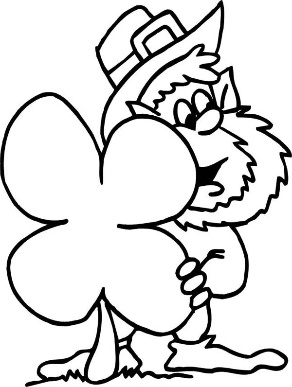 picture of a four leaf clover to color four leaf clovers pictures clipartsco color to four clover picture a leaf of