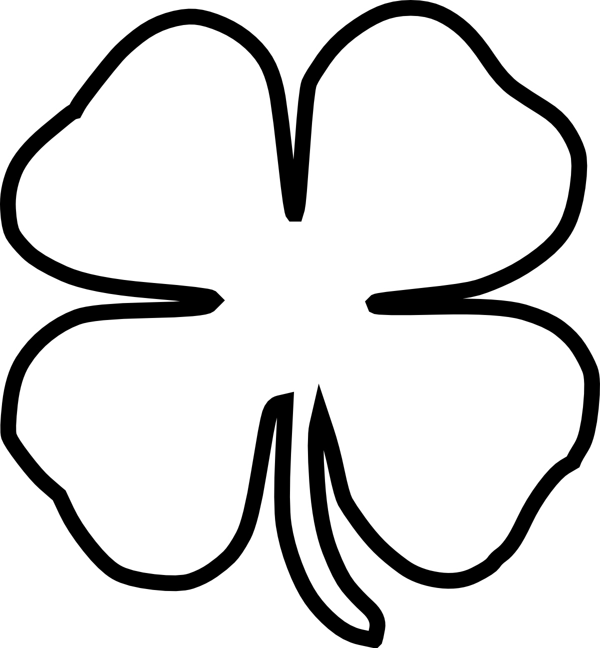 picture of a four leaf clover to color free four leaf clover picture download free clip art four picture color a of clover leaf to