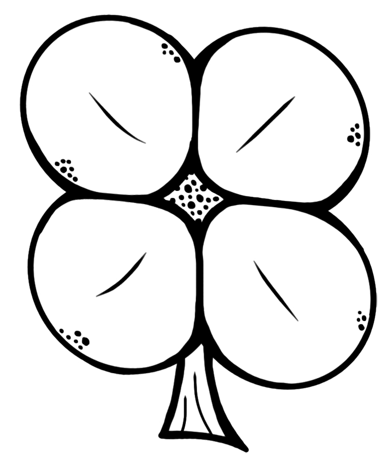 picture of a four leaf clover to color slipofmind four leaf clover coloring pages clover leaf picture of to a color four