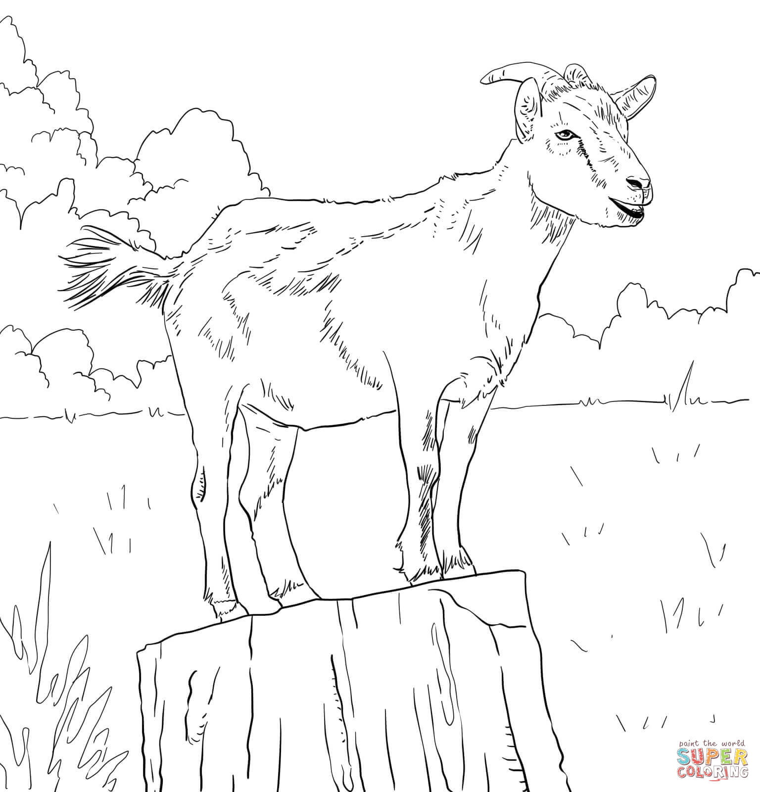 picture of a goat to color free printable goat coloring pages for kids to goat color picture a of