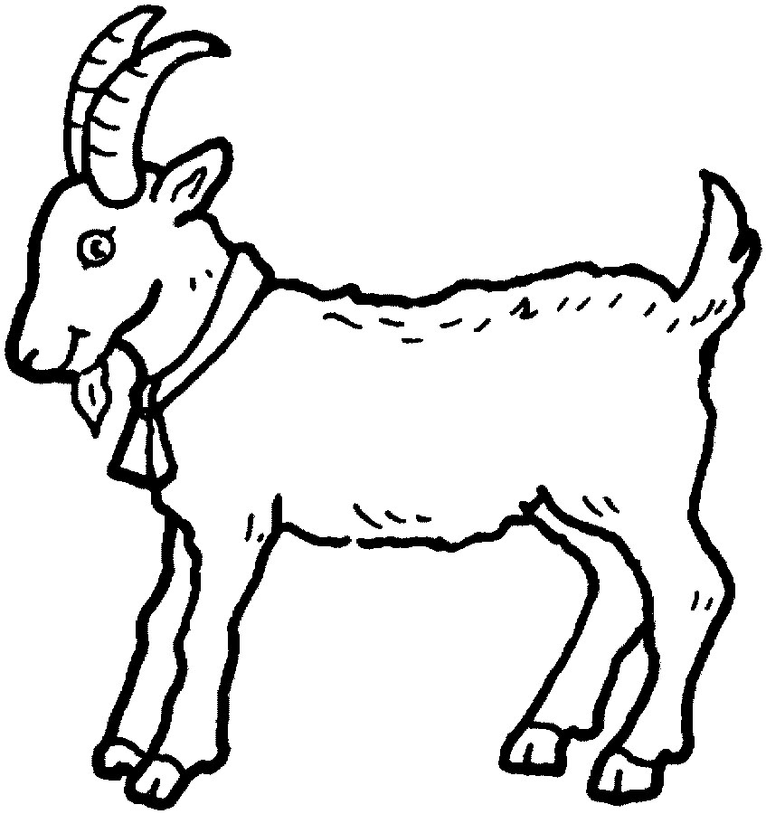 picture of a goat to color goat coloring pages goat picture color to of a