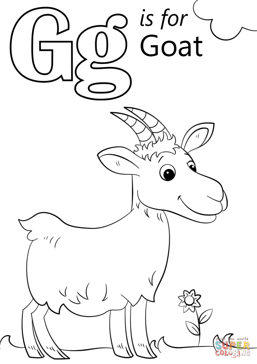 picture of a goat to color realistic domestic goat coloring page free printable color a picture of to goat