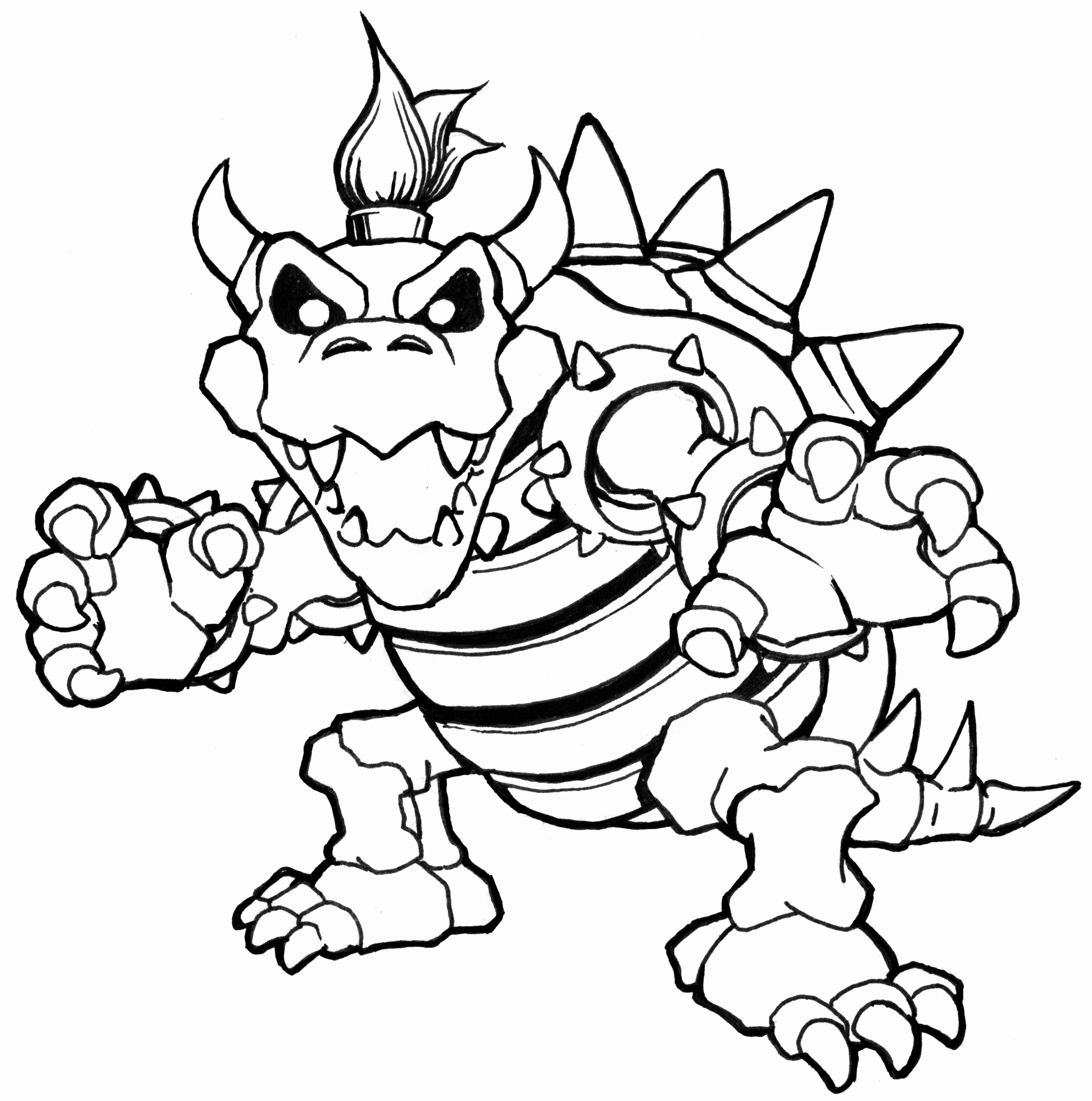 picture of bowser bowser coloring page for kids coloring pages cartoon bowser of picture