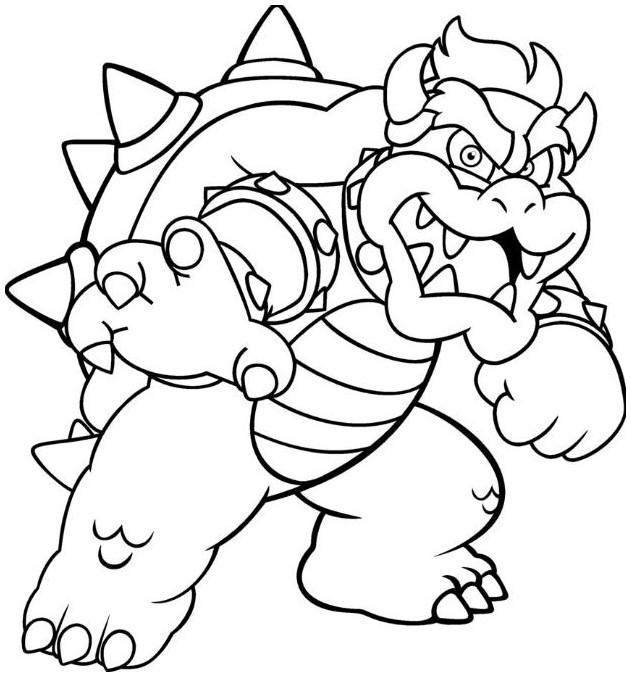 picture of bowser bowser coloring pages mario coloring pages super of picture bowser