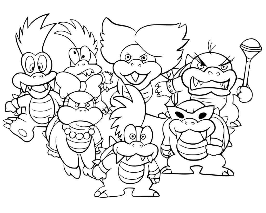picture of bowser bowser jr mario coloring pages super mario coloring bowser of picture