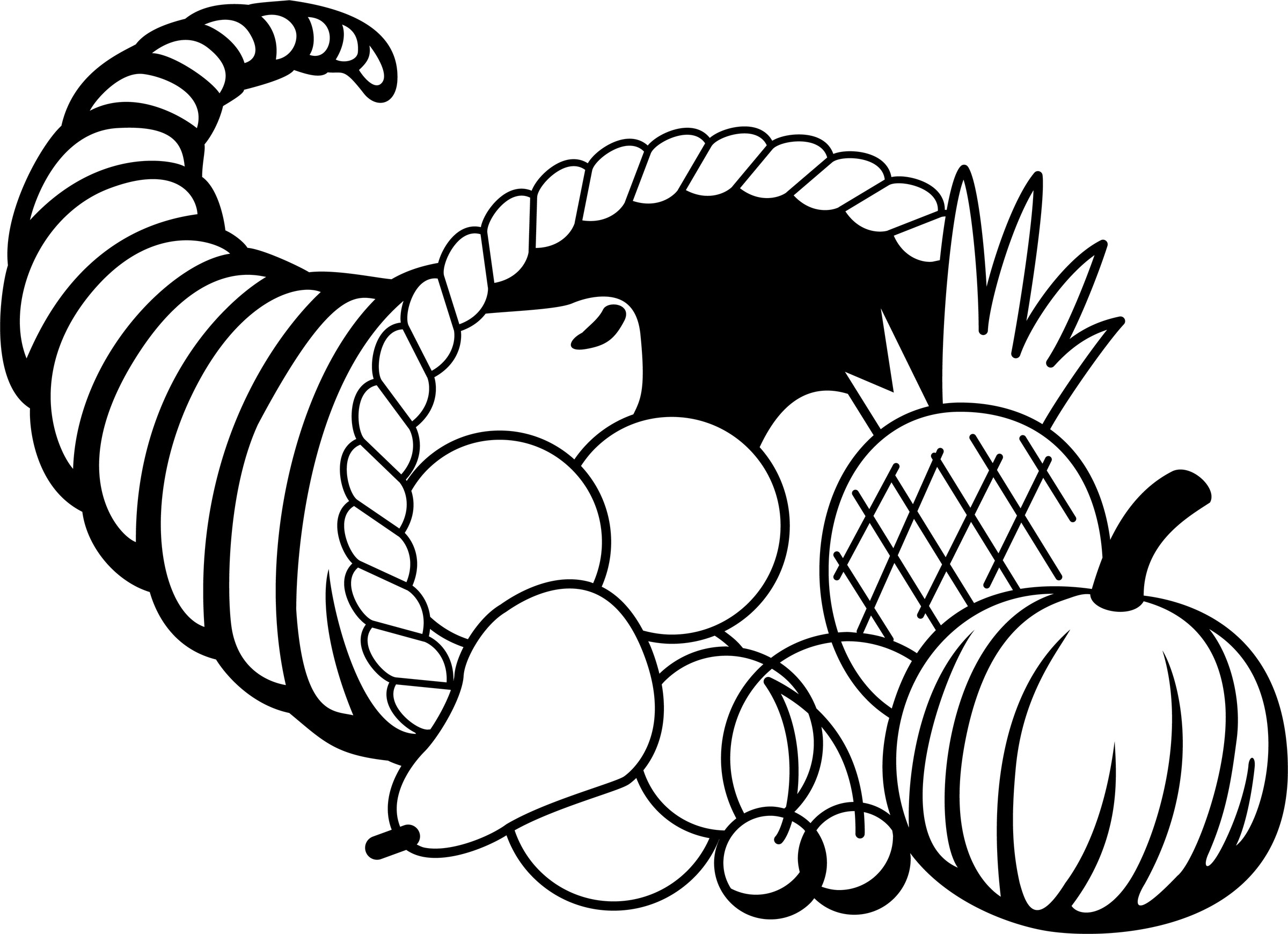 picture of cornucopia to color cornucopia clipart coloring pages cornucopia coloring to of color picture cornucopia