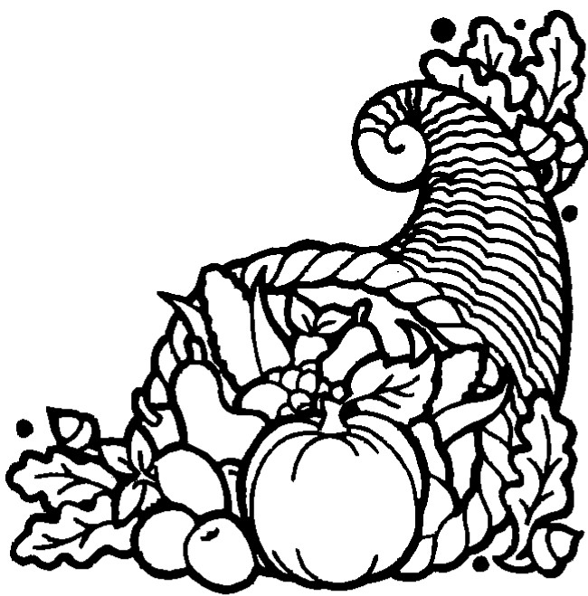 picture of cornucopia to color corucopia coloring page 006 picture color to cornucopia of