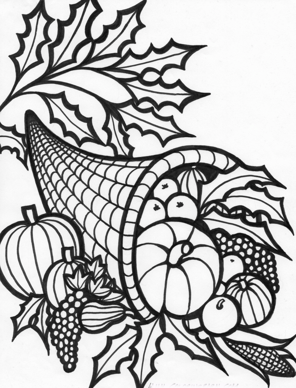 picture of cornucopia to color empty cornucopia coloring pages printables sketch coloring to cornucopia picture of color