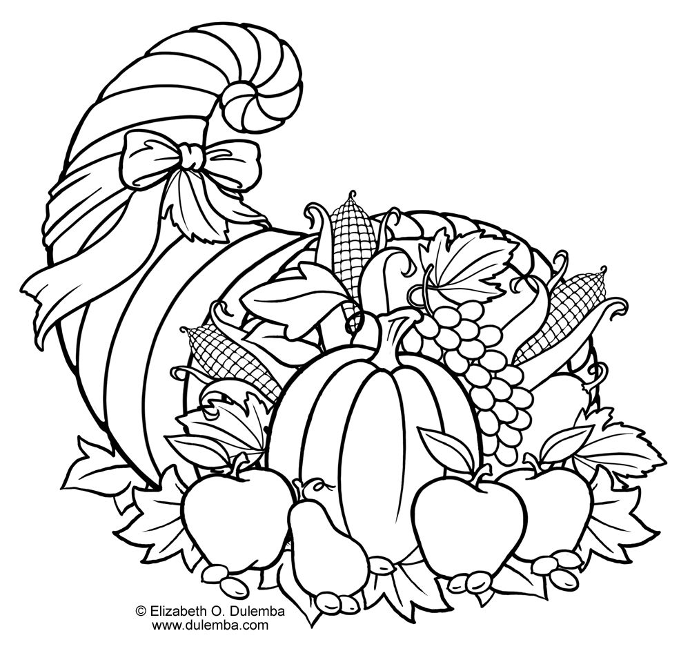 picture of cornucopia to color empty cornucopia coloring pages printables sketch coloring to picture cornucopia color of
