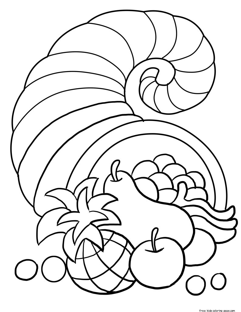 picture of cornucopia to color free coloring pages thanksgiving cornucopia coloring pages picture cornucopia to color of