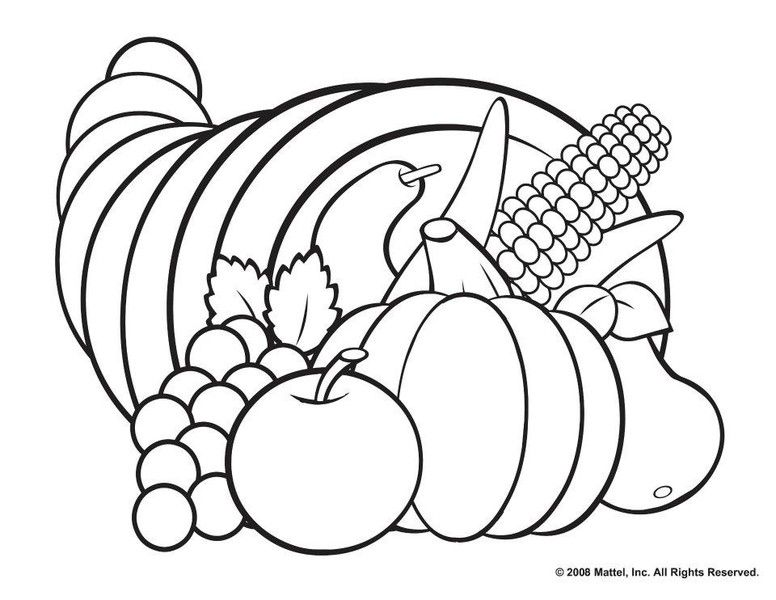 picture of cornucopia to color free printable cornucopia coloring pages coloring home of picture to cornucopia color