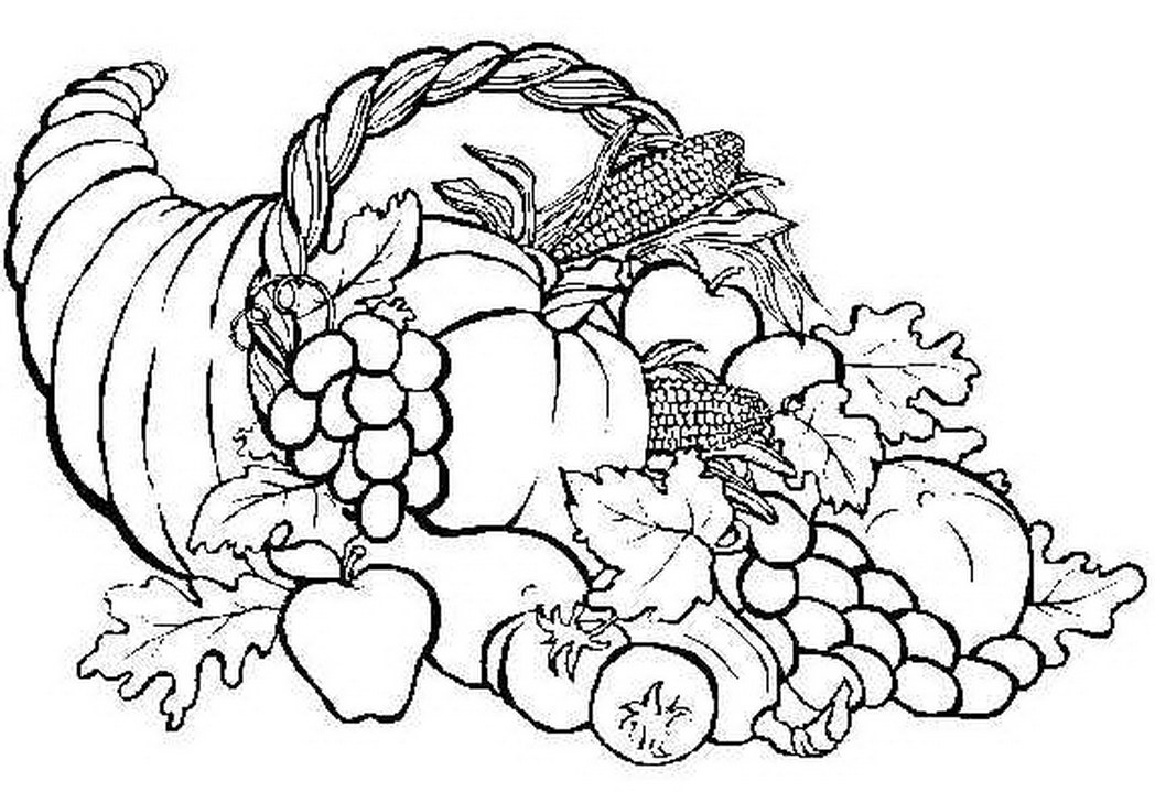 picture of cornucopia to color free printable cornucopia coloring pages coloring home of to picture color cornucopia