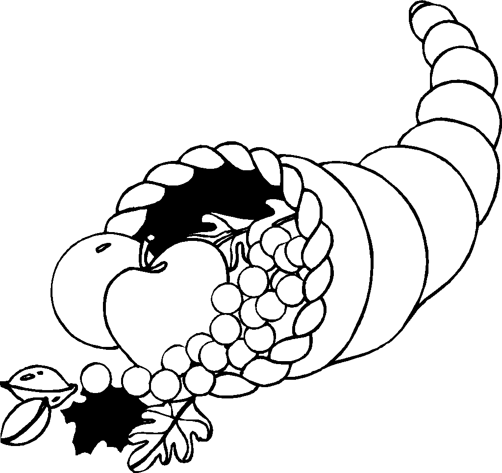 picture of cornucopia to color free printable cornucopia coloring pages coloring home picture of color cornucopia to
