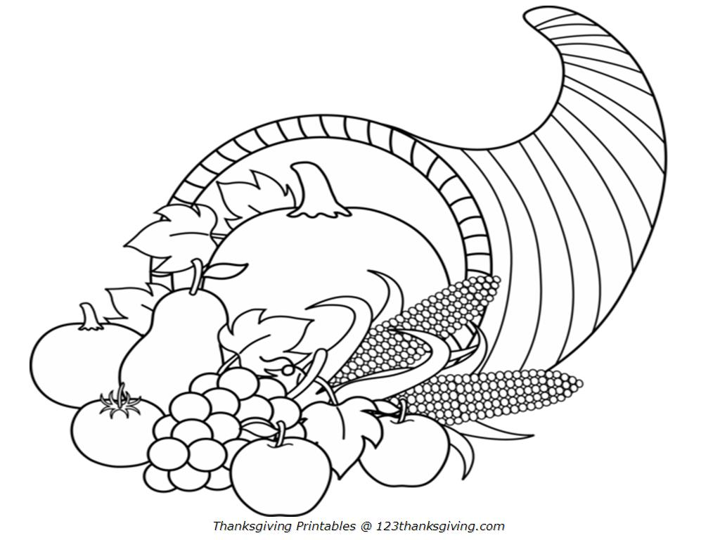 picture of cornucopia to color free printable cornucopia coloring pages coloring home to picture of cornucopia color