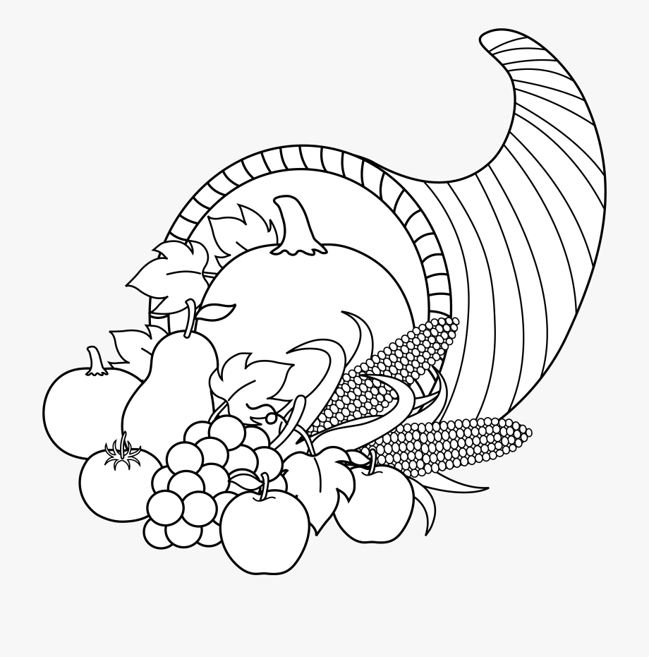 picture of cornucopia to color plentiful cornucopia coloring page favecraftscom picture color to cornucopia of