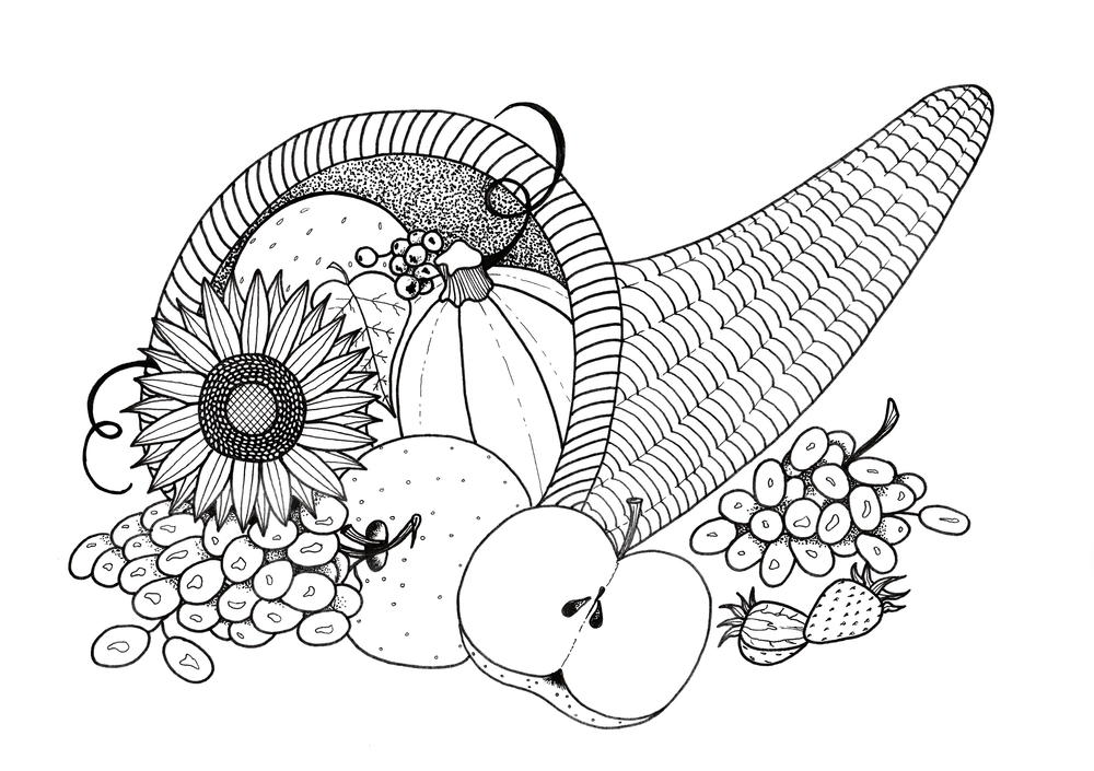picture of cornucopia to color remarkable cornucopia coloring pages powell website to color picture of cornucopia
