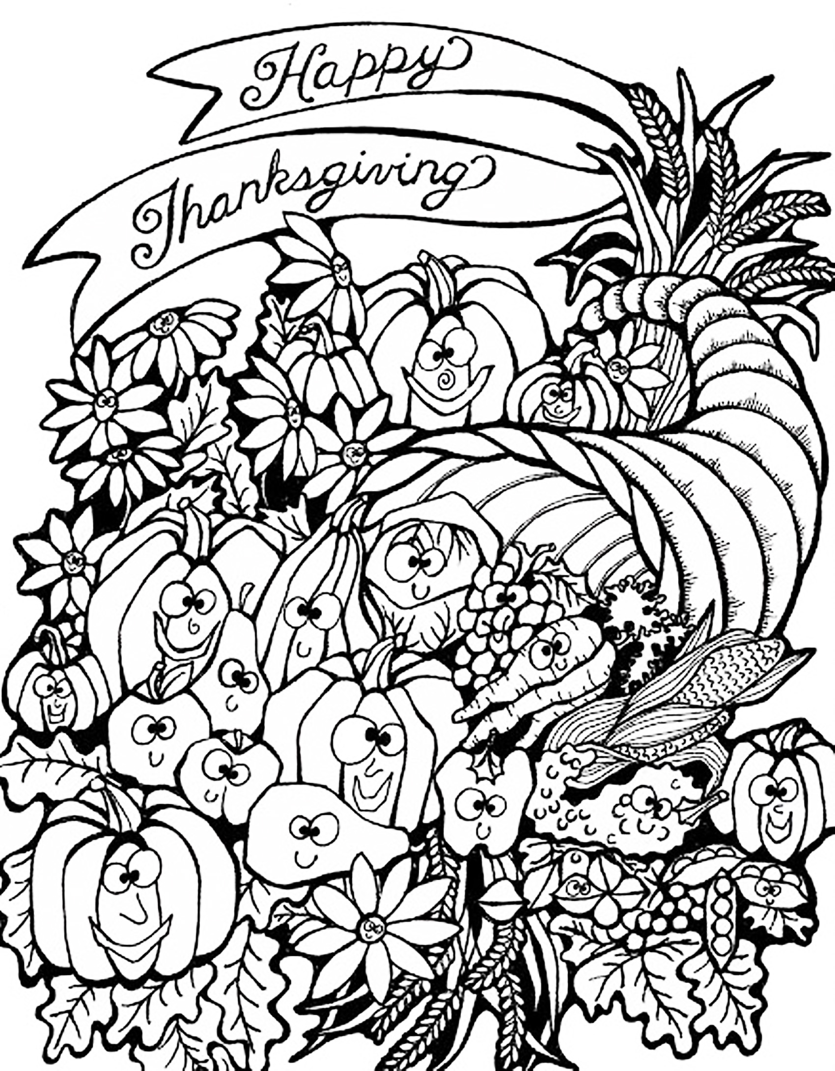 picture of cornucopia to color sweetness meditations thanksgiving coloring pages cornucopia cornucopia to color picture of