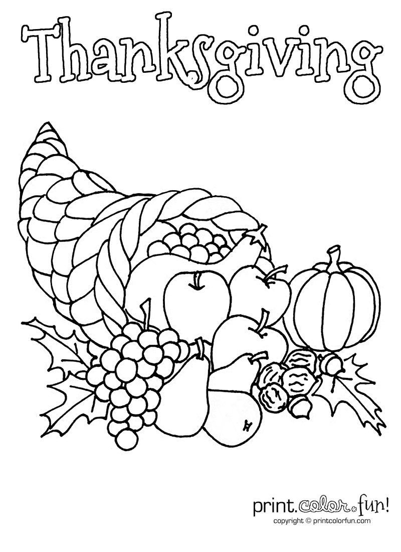 picture of cornucopia to color thanksgiving coloring pages thanksgiving cornucopia color cornucopia picture of to