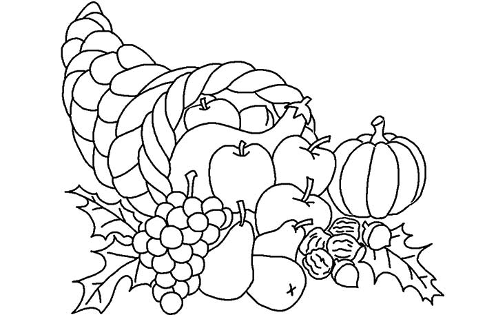 picture of cornucopia to color thanksgiving cornucopia coloring page print color fun cornucopia to of color picture
