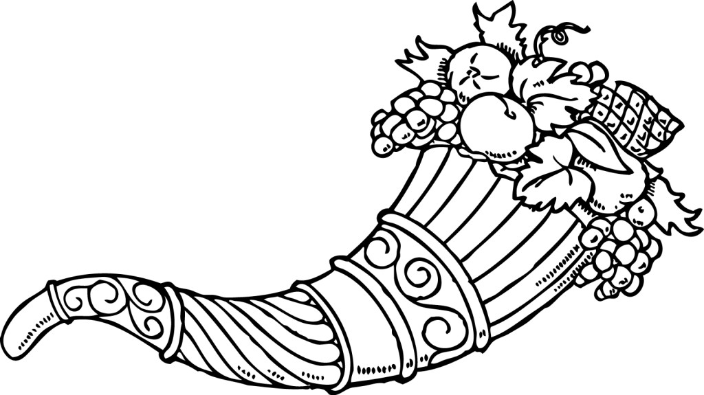 picture of cornucopia to color thanksgiving cornucopia coloring pages coloring pages picture color cornucopia to of