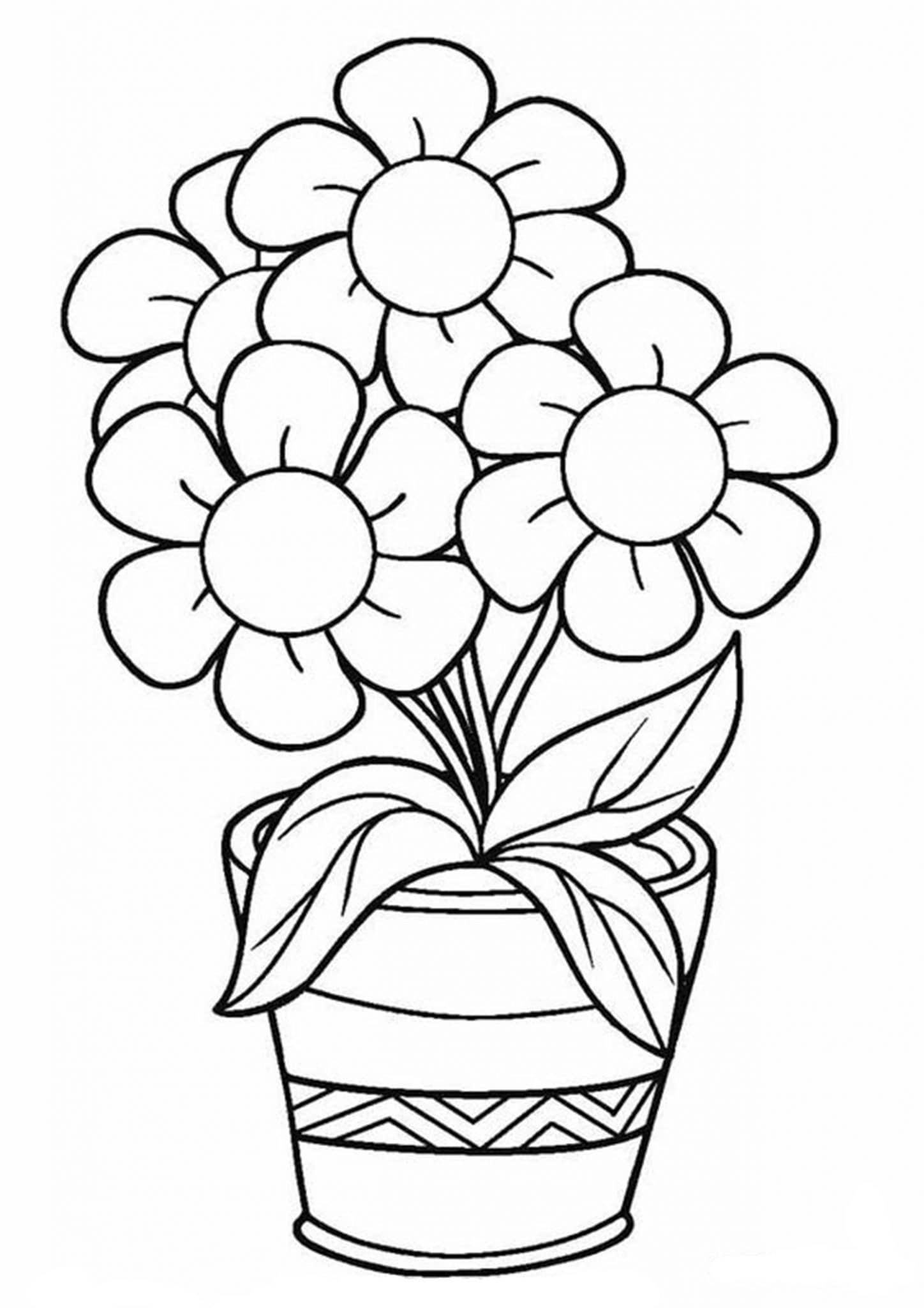 picture of flowers to colour free printable flower coloring pages for kids best picture to of colour flowers
