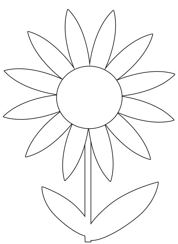 picture of flowers to print free printable flower coloring pages for kids best of print picture flowers to
