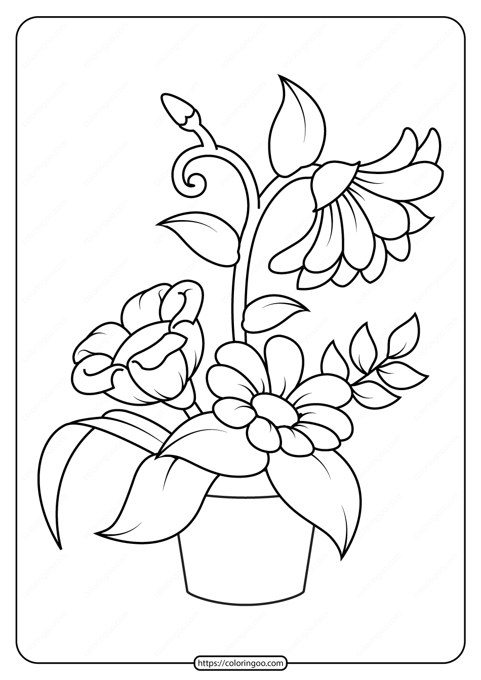 picture of flowers to print free printable rose and marigold flowers coloring page to of print flowers picture