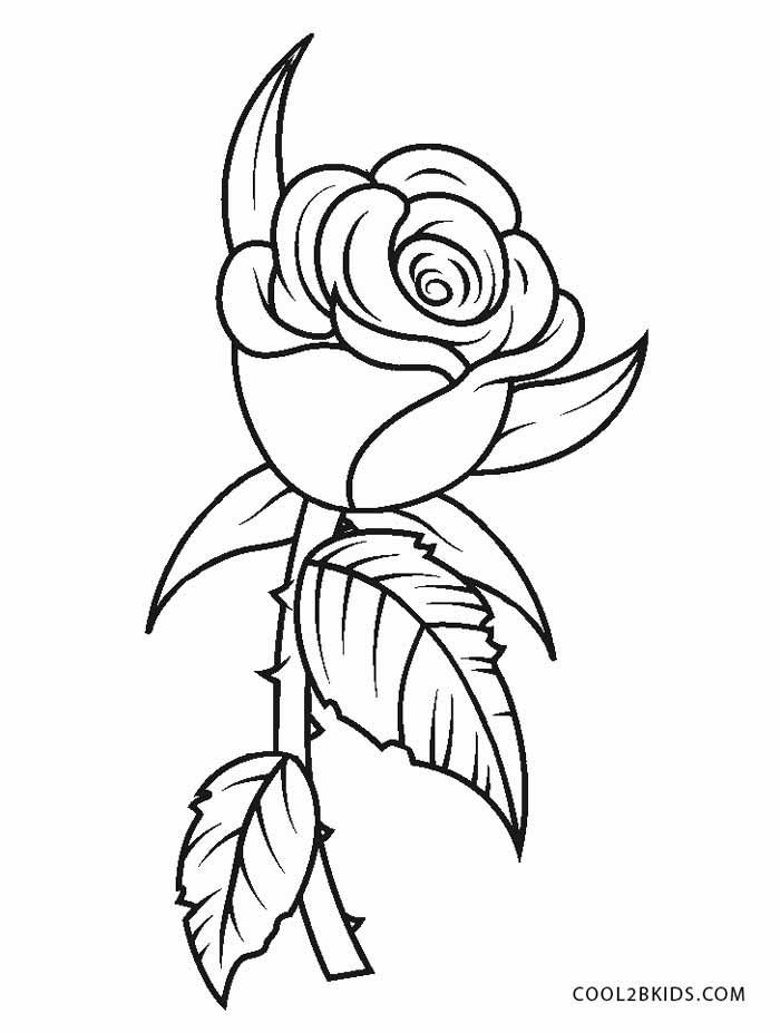 picture of flowers to print rose flower for beautiful lady coloring page download to print picture of flowers