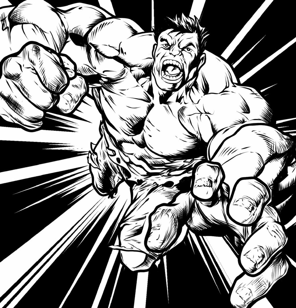 picture of hulk download the hulk black and white marvel png free png hulk of picture
