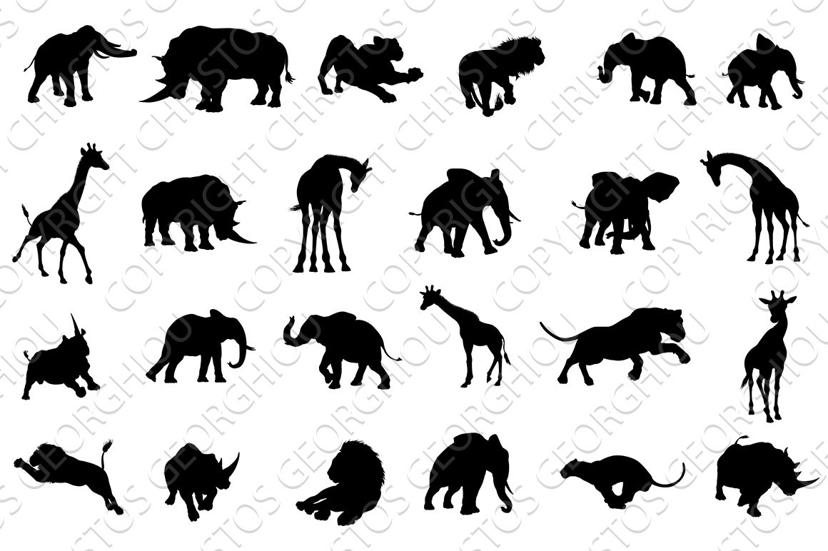 picture of safari animals frog silhouette wall decals safari animal decor frog animals of safari picture