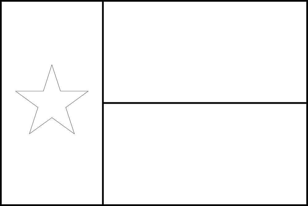 picture of texas flag to color texas state flag coloring page di 2020 dengan gambar texas of color picture flag to