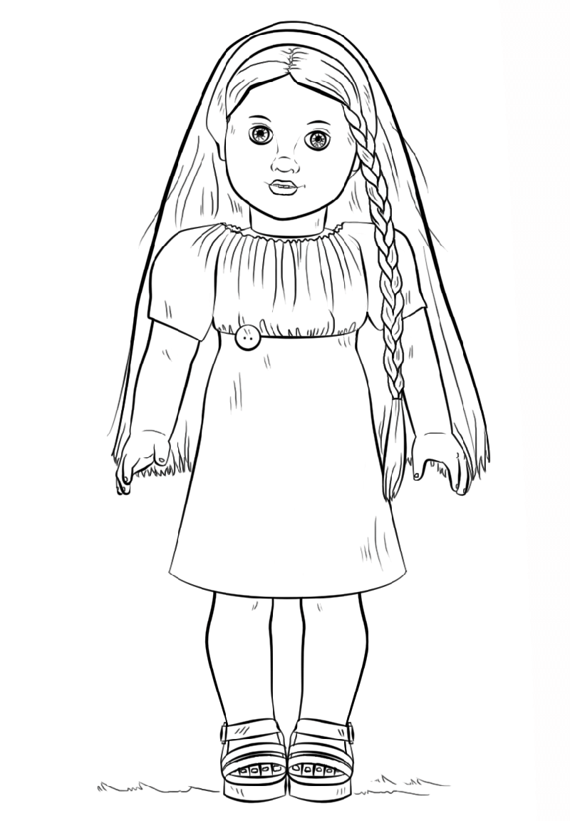 pictures of american girl dolls to color american girl coloring pages best coloring pages for kids pictures to dolls american of girl color