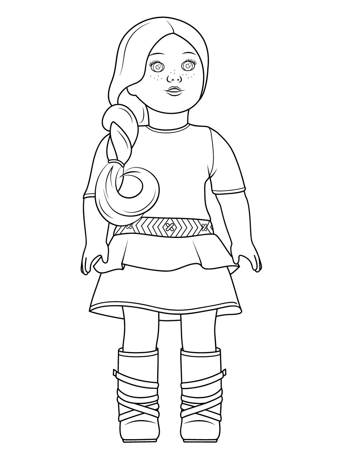 pictures of american girl dolls to color american girl doll julie coloring page free printable pictures dolls color of american girl to