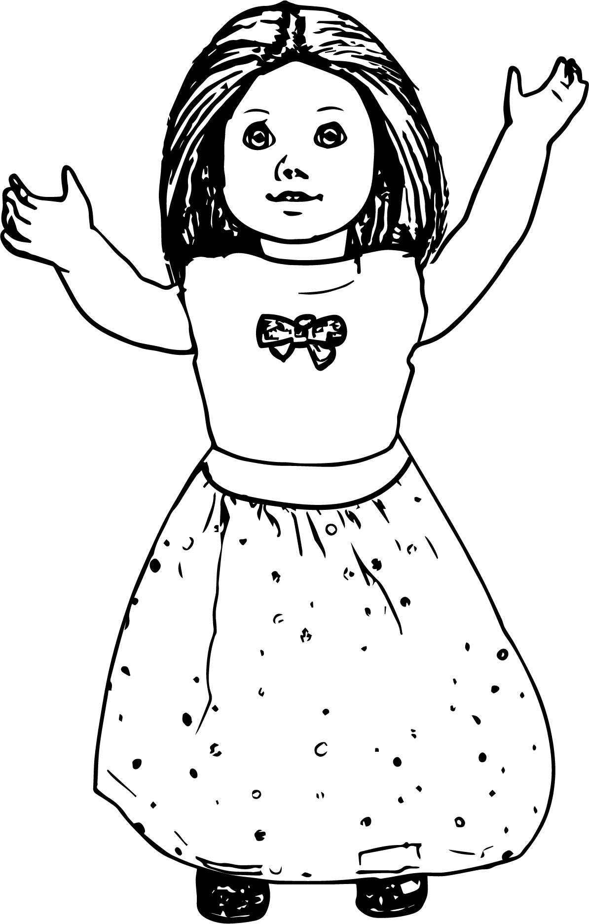 pictures of american girl dolls to color girl with doll coloring page coloring home color girl to of dolls pictures american