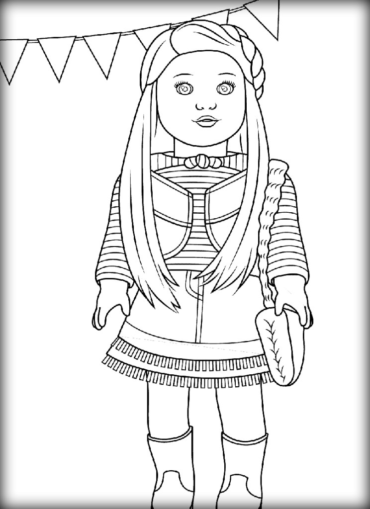 pictures of american girl dolls to color printable american girl doll coloring pages for kids color dolls to pictures of girl american