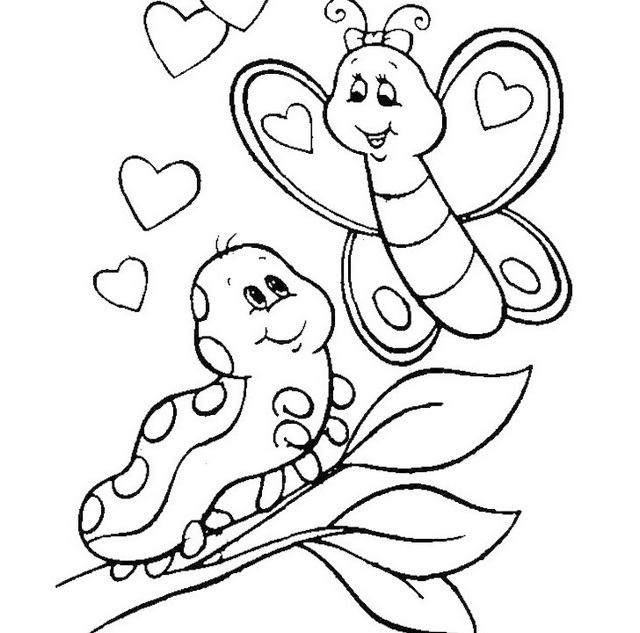 pictures of caterpillars to color caterpillar meeting butterfly coloring sheet pictures of to caterpillars color