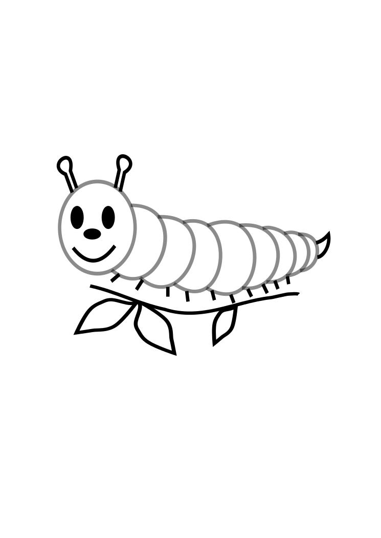 pictures of caterpillars to color free printable caterpillar coloring pages for kids of to caterpillars pictures color