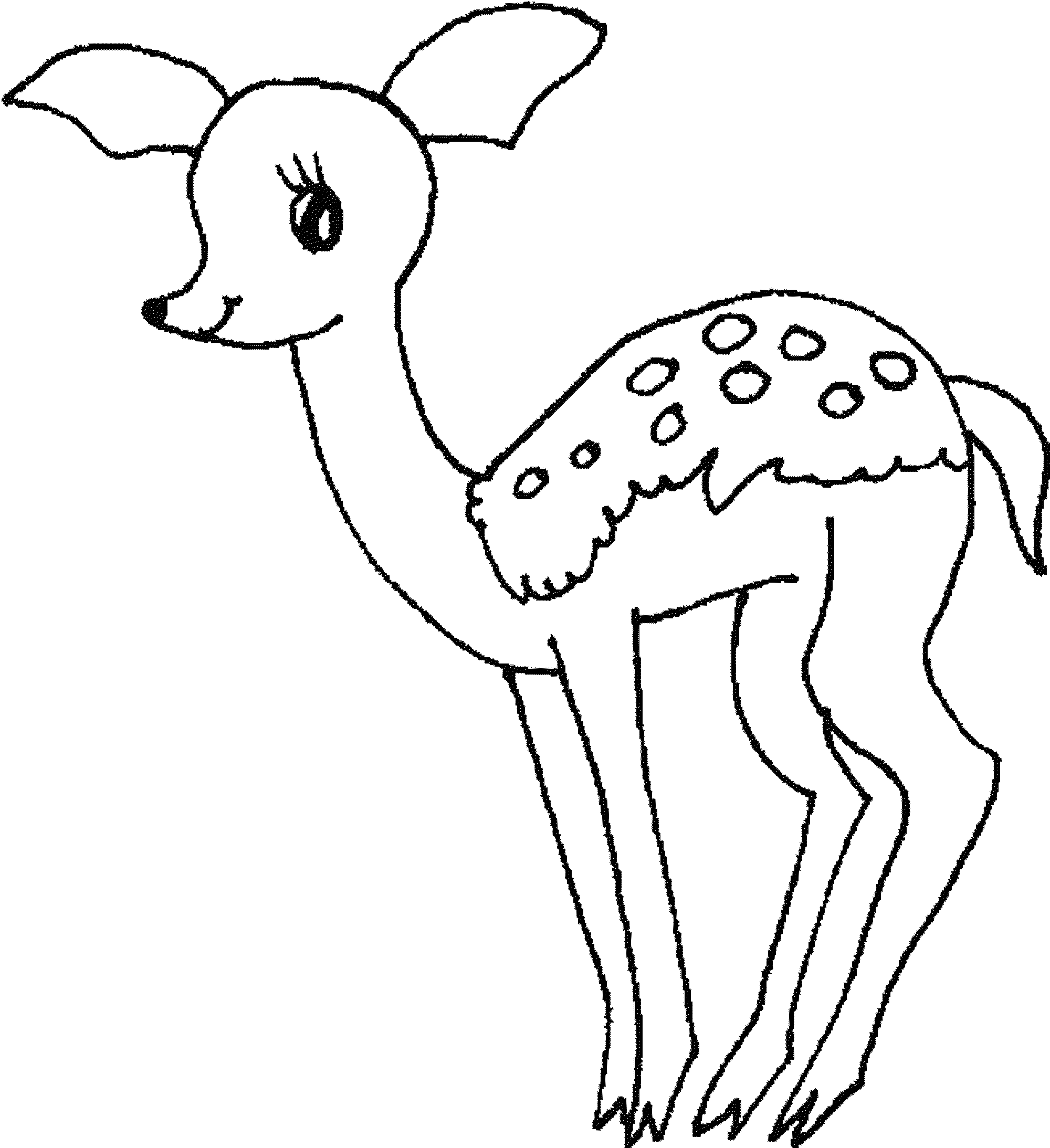 pictures of deers to color free printable deer coloring pages for kids color deers pictures of to