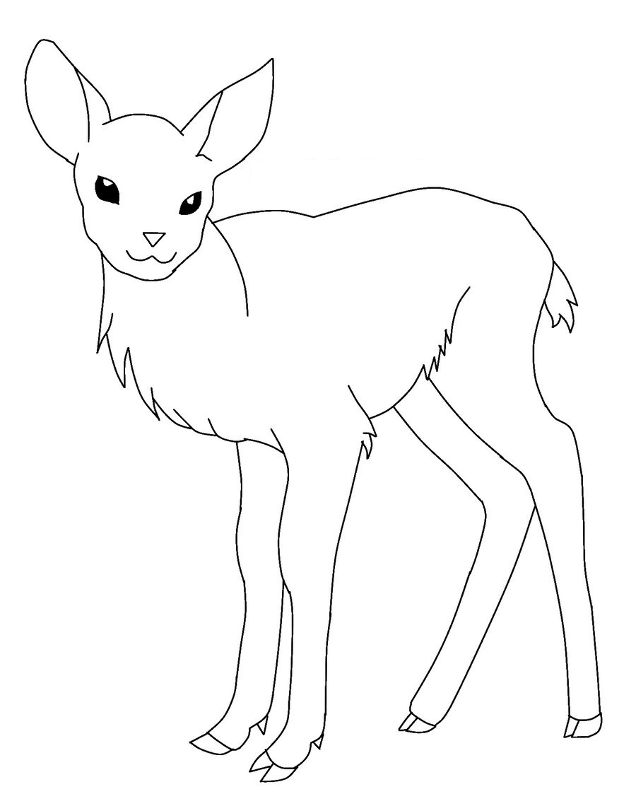 pictures of deers to color free printable deer coloring pages for kids to deers pictures of color
