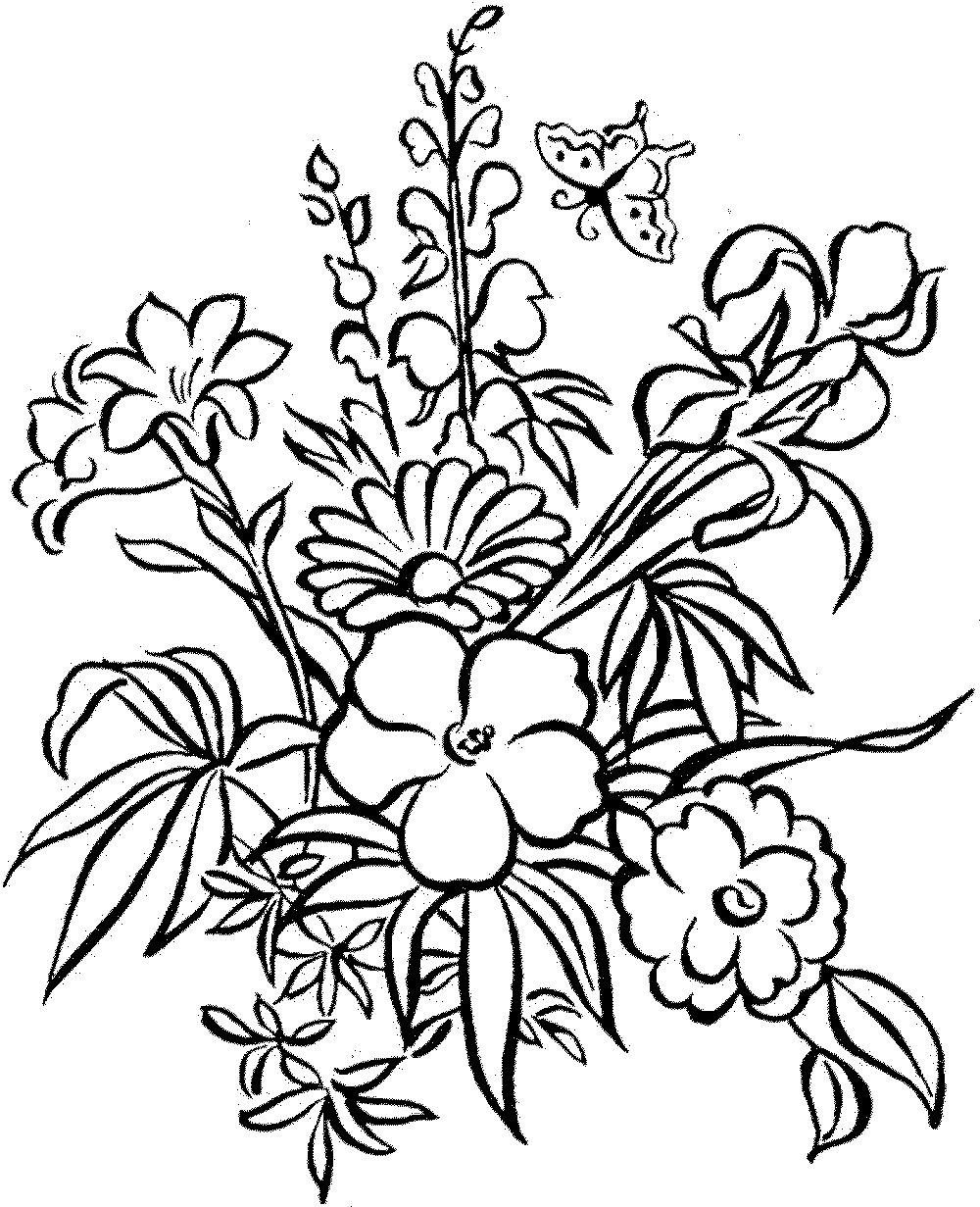 pictures of flowers to color easy coloring pages of flowers at getdrawings free download pictures flowers to of color